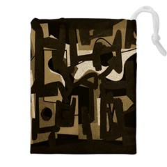 Abstract art Drawstring Pouches (XXL)