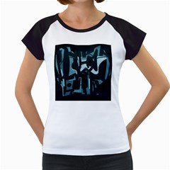 Abstract art Women s Cap Sleeve T