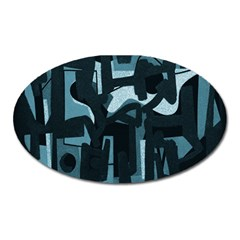 Abstract art Oval Magnet