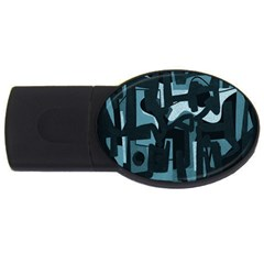Abstract art USB Flash Drive Oval (4 GB)