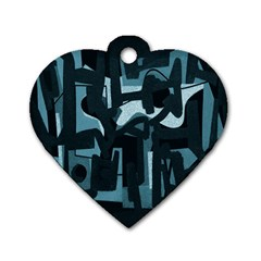 Abstract art Dog Tag Heart (One Side)