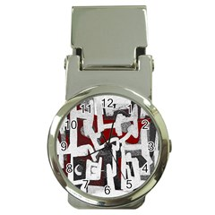 Abstract art Money Clip Watches