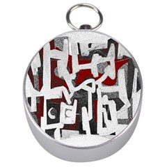 Abstract art Silver Compasses