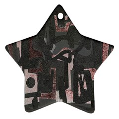 Abstract art Star Ornament (Two Sides)