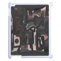 Abstract art Apple iPad 2 Case (White)