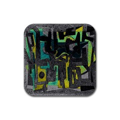 Abstract art Rubber Square Coaster (4 pack)