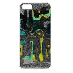 Abstract art Apple iPhone 5 Seamless Case (White)