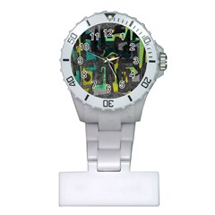 Abstract art Plastic Nurses Watch