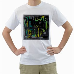 Abstract art Men s T-Shirt (White)
