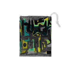 Abstract art Drawstring Pouches (Small)