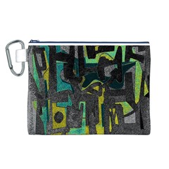 Abstract art Canvas Cosmetic Bag (L)