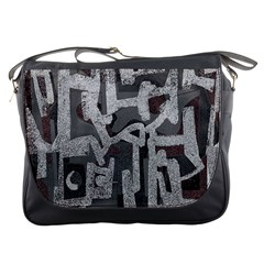 Abstract art Messenger Bags