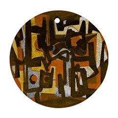 Abstract art Ornament (Round)