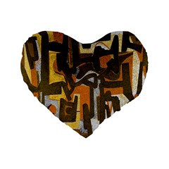 Abstract art Standard 16  Premium Heart Shape Cushions