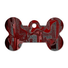 Abstract art Dog Tag Bone (Two Sides)
