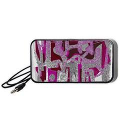 Abstract art Portable Speaker (Black)