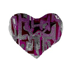 Abstract art Standard 16  Premium Flano Heart Shape Cushions