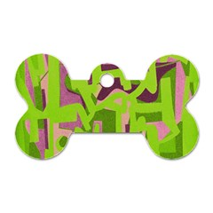 Abstract art Dog Tag Bone (One Side)