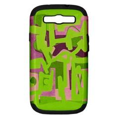 Abstract art Samsung Galaxy S III Hardshell Case (PC+Silicone)