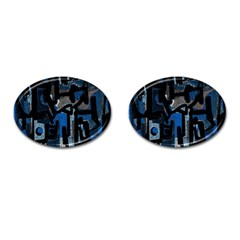 Abstract art Cufflinks (Oval)