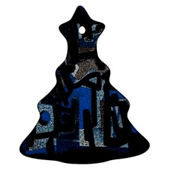 Abstract art Christmas Tree Ornament (Two Sides)