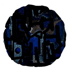 Abstract art Large 18  Premium Round Cushions