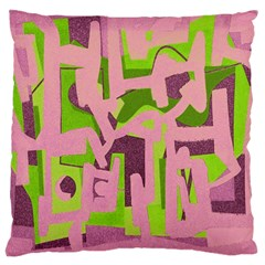 Abstract art Large Cushion Case (Two Sides)