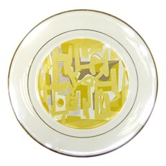 Abstract art Porcelain Plates