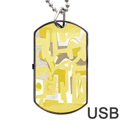 Abstract art Dog Tag USB Flash (One Side)