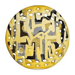 Abstract art Round Filigree Ornament (Two Sides)