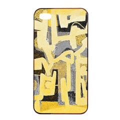 Abstract art Apple iPhone 4/4s Seamless Case (Black)