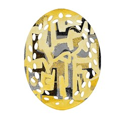 Abstract art Oval Filigree Ornament (Two Sides)