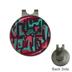 Abstract art Hat Clips with Golf Markers
