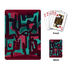 Abstract art Playing Card