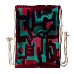 Abstract art Drawstring Bag (Large)