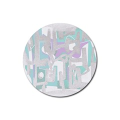 Abstract art Rubber Coaster (Round)