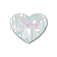Abstract art Rubber Coaster (Heart)