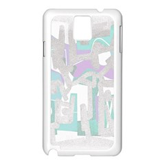 Abstract art Samsung Galaxy Note 3 N9005 Case (White)