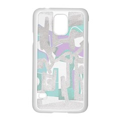 Abstract art Samsung Galaxy S5 Case (White)