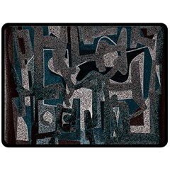 Abstract art Fleece Blanket (Large)