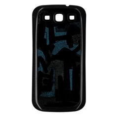 Abstract art Samsung Galaxy S3 Back Case (Black)