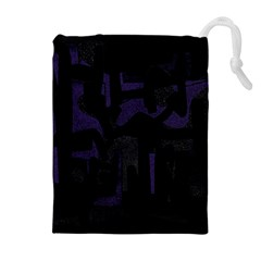 Abstract art Drawstring Pouches (Extra Large)