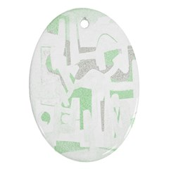 Abstract art Oval Ornament (Two Sides)