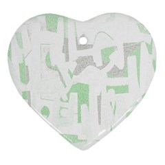 Abstract art Heart Ornament (Two Sides)