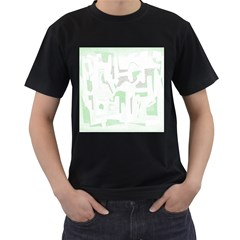 Abstract art Men s T-Shirt (Black)