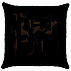 Abstract art Throw Pillow Case (Black)