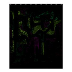 Abstract art Shower Curtain 60  x 72  (Medium)