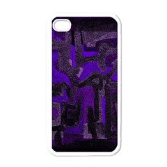 Abstract art Apple iPhone 4 Case (White)