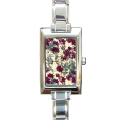 Floral Dreams 10 Rectangle Italian Charm Watch