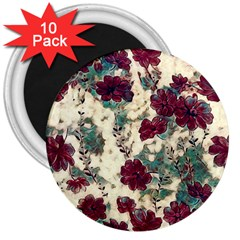 Floral Dreams 10 3  Magnets (10 pack)